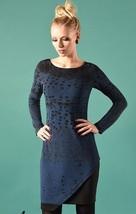 Eroke Italy: Asymmetrical Shades of a Midnight Sky Dress - $129.00