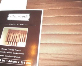 Allen Roth Lincolnshire Valance Pleated Tailored Window TAN 18 x 45 FREE SHIP - $18.80