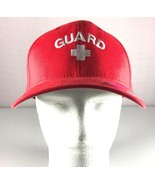 Mens Yupoong FlexFit Hat Red 'Guard' Cap Size L / XL - $27.67