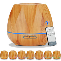 Wood Grain Ultrasonic Air Humidifier Aroma Remove Control - €77,23 EUR