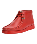 LibertyZeno Men's Genuine Leather Moccasin Toe Chukka Red Casual Shoes L... - $79.99+