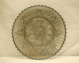 "Vintage Pioneer~Smoke Carnival by Federal Glass 11-3/8"" Sandwich Plate Platter - $19.79"