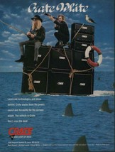 1991 Vintage PRINT AD Crate Amplifiers Great White Mark Kendall Michael ... - $4.47