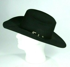 Resistol Ladies Black The Challanger Long Oval Cowboy Western Hat 7 3/8 ... - $133.09
