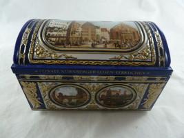 """Collector's Tin Musical music box Mit Spieluhr 6"""" X 4"""" Chest style German - $12.86"""