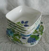 Lot of 12 Pcs Waverly Melamine Square Plates & ... - $39.99