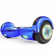 Flash Chrome Blue Bluetooth Hoverboard Two Wheel Balance Scooter UL2272 - $249.00
