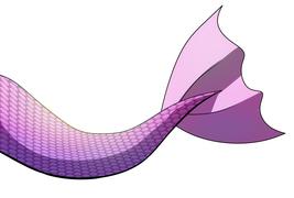 Digital Download - Pink Mermaid Tail V2 Digital Art by Ganene K. - Girly - $2.99