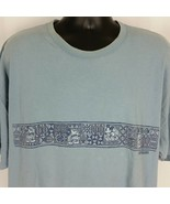 Disneyland Resort Mickey Mouse Tribal Hawaiian Mens Tee Shirt Blue XXL U... - $29.99