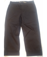 NWT CJ by Cookie Johnson Womens Size 6/8 Cropped Black Chinos - $29.65