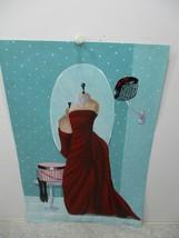 Victoria L. Gobel  Red Dress 2007 Original Acrylic Painting Flat Canvas - $10.99