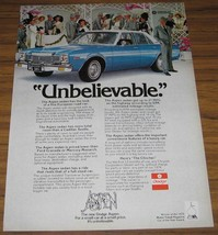 1976 Vintage Ad~The 76 Dodge Aspen Sedan - $10.72