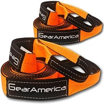 """GearAmerica 2PK Recovery Tow Straps 3"""" x20' 