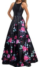 Women's Long Prom Party Dresses Sleeveless Open Back Print Formal Ball G... - $144.00