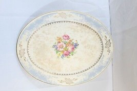 HOMER LAUGHLIN ROYAL SPLENDOR A 40 NG (22K) GOLD TRIM  BLUE/WHITE PLATTER - $35.59