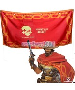 Game Overwatch Jesse McCree Scarf Red Flag Cape Cosplay Accessories 100X... - $12.25