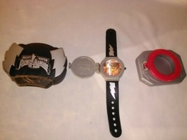 MMPR Talking Wrist Watch Saban Communicator Black Silver 1995 Lot of 3 Toys - $34.87
