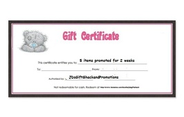 $10  Gift Certificate for Promotional Services - $10.00