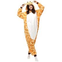 Adults' Kigurumi Pajamas Giraffe Onesie Pajamas Polar Fleece Yellow Cosp... - $3.99+