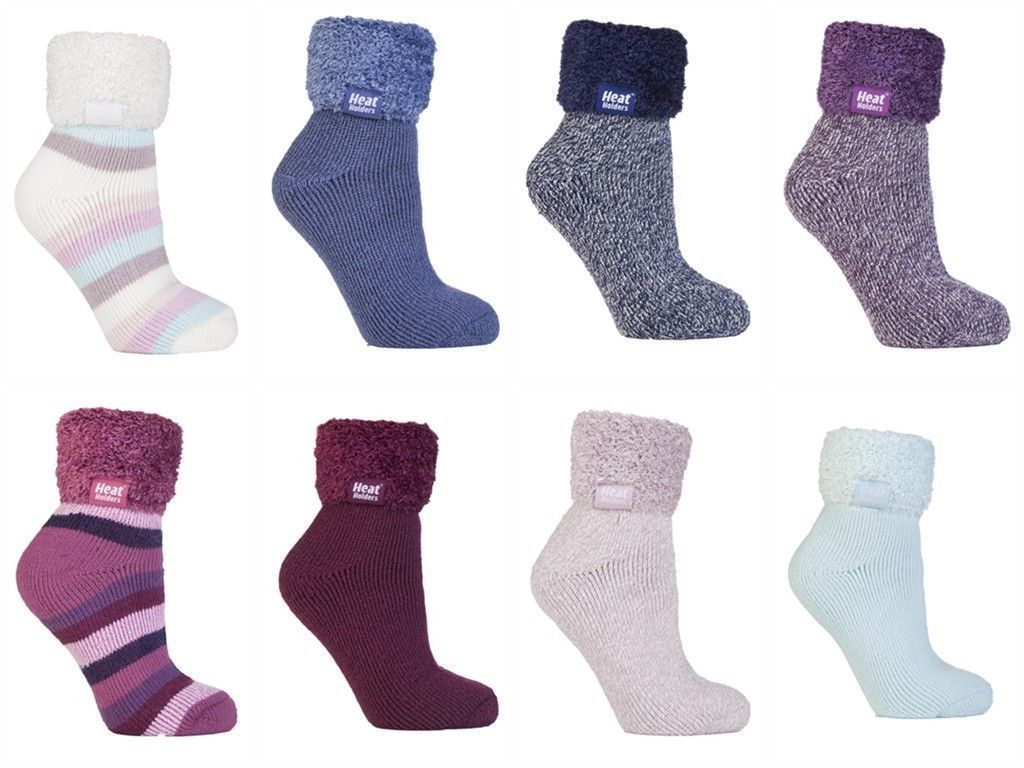 Heat Holders - Damen winter bunt abs anti rutsch thermosocken bettsocken