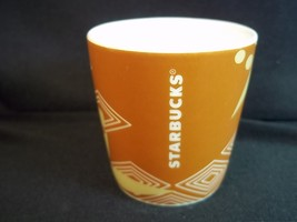 Starbucks Ethiopia ceramic demi shot glass espresso taster brown white 3 oz - $6.66