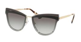 Brand New Prada Sunglasses PR 12US KUI 0A7 Gold Black/Grey Gradient For ... - $178.19