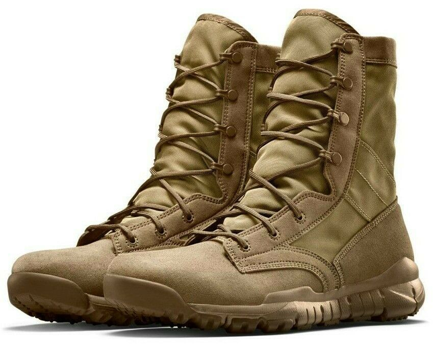 "NIKE SFB FIELD 8"" BOOTS ""COYOTE"" BROWN MILITARY/POLICE SIZE 14 NEW (329798-990)"