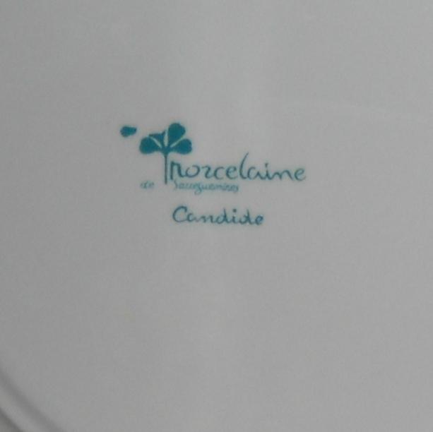 Sarreguemimes Candide porcelain soup  bowls (6available