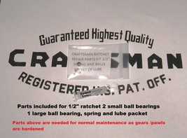 "Craftsman Ratchet repair parts 1/2"" Round head fine tooth Fits #44978  Read - $8.94 CAD"
