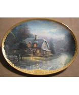 LAMPLIGHT GLEN collector plate THOMAS KINKADE Lamplight Village - $19.99