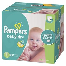 Pampers Baby Dry Disposable Diapers Size 1  Economy Pack Plus  252 Count - $65.79