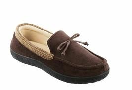 Totes Toasties Men's Size Medium M 8-9 Chocolate Brown Memory Foam Slipp... - $18.95