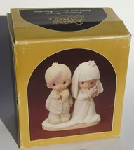 Precious Moments 1979 May Lord Bless Keep You E-3114 Ceramic Bride Groom... - $8.81