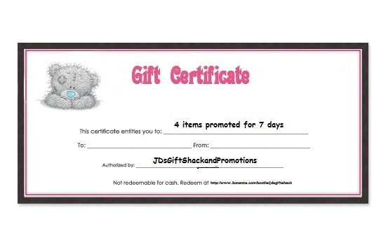 $4 Gift Certificate for Promotional Services