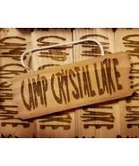 camp crystal lake custom wood sign - $12.00