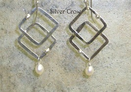Freshwater Pearl & Argentium Sterling Silver  Earrings - $20.99