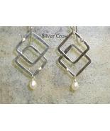 Freshwater Pearl & Argentium Sterling Silver  Earrings - $20.99