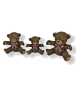 Teddy Bears Ceramic Baby Girl Cake Topper Twins Mom Daughters Bows Siste... - $12.86