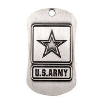 Army Dog Tag, Antique Finish, with Isaiah 40:31 plus 2 prayer cards and a magnet - $12.95