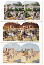 1898 Antique Cardboard Stereoscope Stereoview Cards Italy Washington DC ... - $11.87