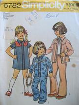 Vintage 1970s Pattern Child Dress Shirt Pants Pantsuit S6782 - $6.95