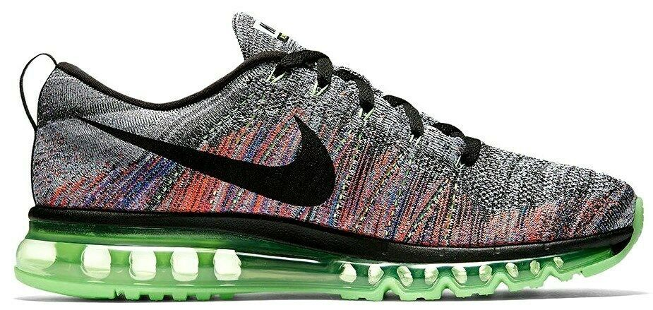NIKE FLYKNIT AIR MAX MULTI-COLOR WOMEN SIZE 7.5 NEW RARE SHOES (620659-103) image 3