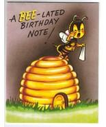 RUSTCRAFT Bee-Lated Vintage Birthday Card - $7.50