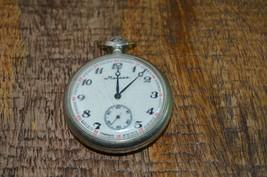 Russian Molnija Marnna Hunting Pocket Watch Wolves CCCP Vintage Ticking - $48.37