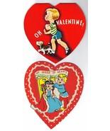 2 Vintage Children's Valentine Cards by A-MERI-... - $12.00