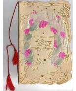 Big Beautiful Antique Victorian Christmas Card ... - $16.00