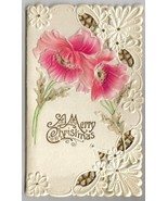 Beautiful Lacy Antique Victorian Christmas Card - $16.00