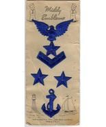 Vintage Embroidered NAVY Emblems on Orig Card - $6.00