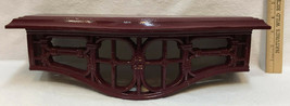 Shelf Homco Burgundy Red Lattice Bamboo Look Plastic Vintage 1986  - $14.84
