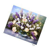 Diy Oil Painting Paint By Number Kit With Flowers Painting Life Pbn Home... - $19.99
